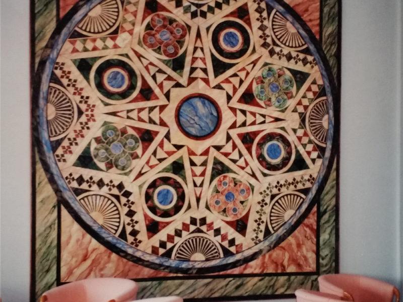 Albergo Dalaman Turchia Tecnica mista. Colorazione ad acrilico su tela. Mq 20