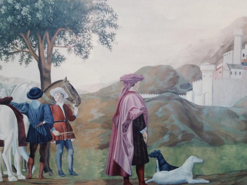 Piero della Francesca Collezione privata Tecnica mista. Colorazione ad acrilico su tela. Cm 250x140