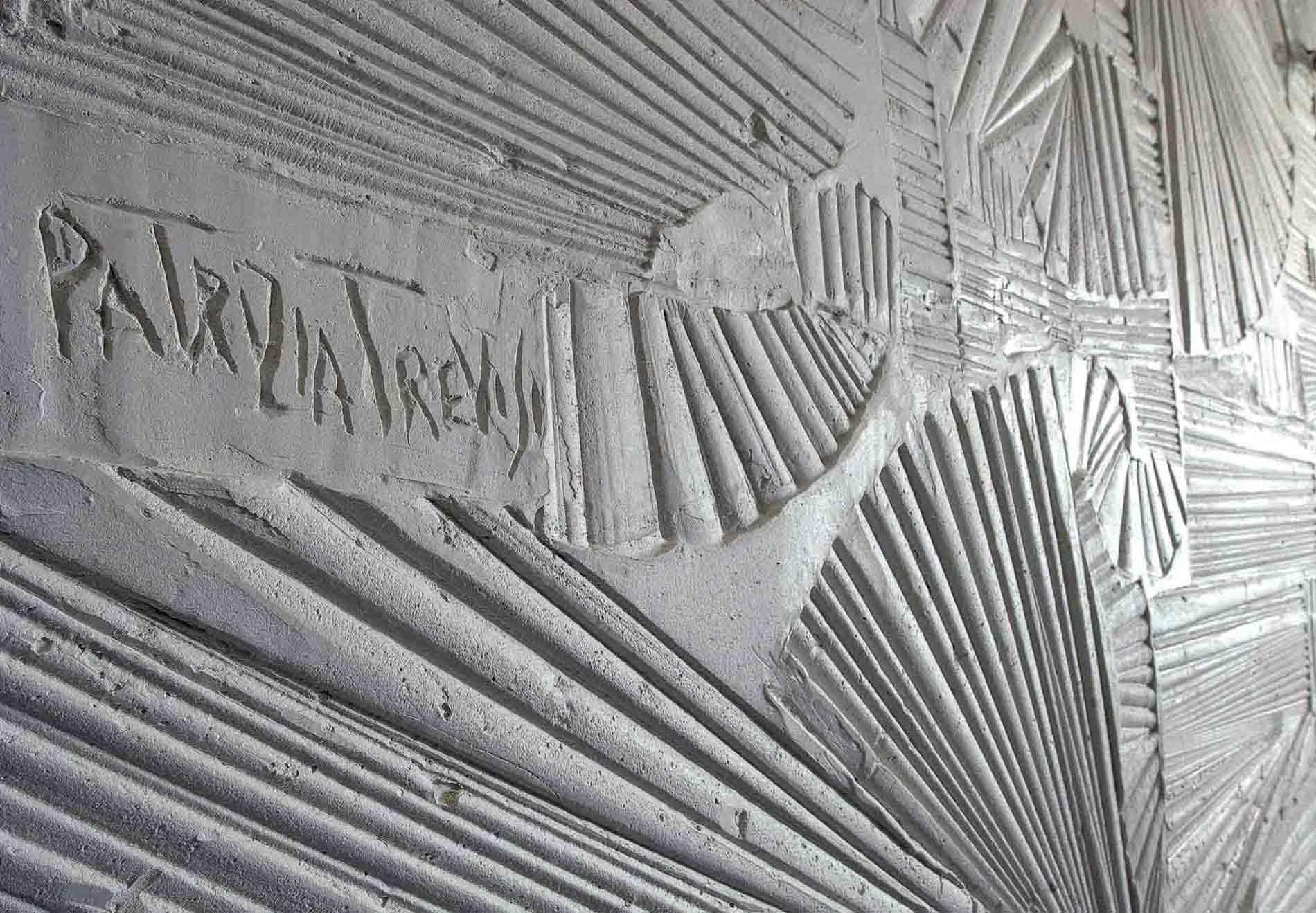 Pareti a bassorilievo N.24 pareti per lofts Roma Gesso modellato su multistrato. Colorazione con lavabile. Cm 600x 280 cad