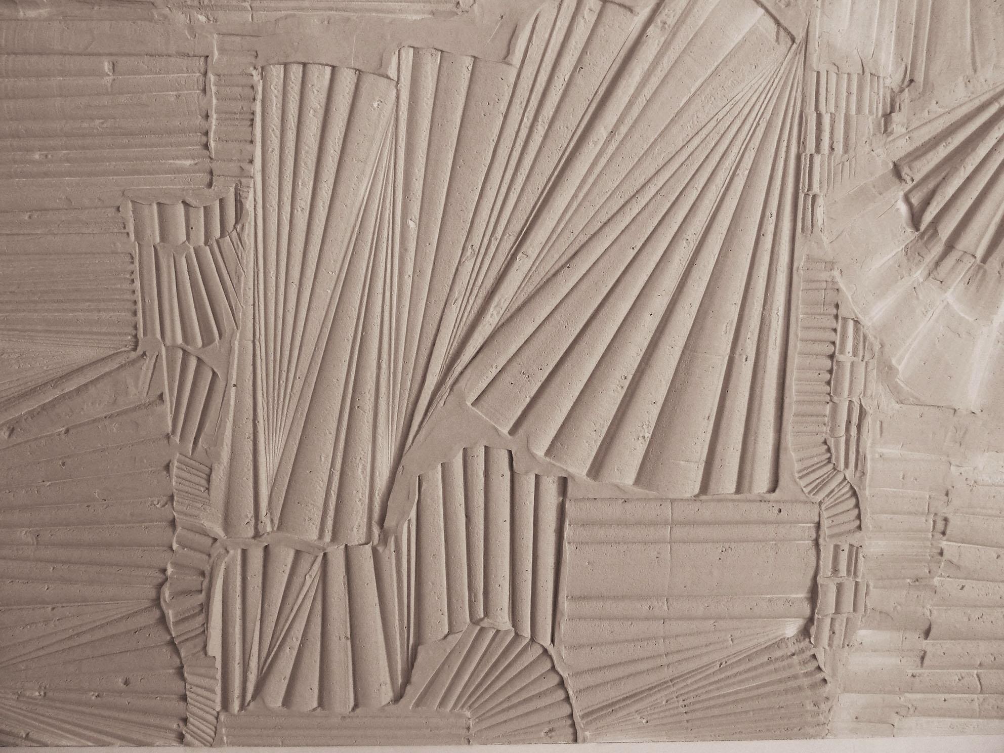 Pareti a bassorilievo N.24 pareti per lofts Roma Gesso modellato su multistrato. Colorazione con lavabile. Cm 600x 280 cad, archetipo, astrazione, bassissimo rilievo, bassorilievo, pareti hall, pareti hotel, pareti loft, gesso modellato, pigmenti, texture