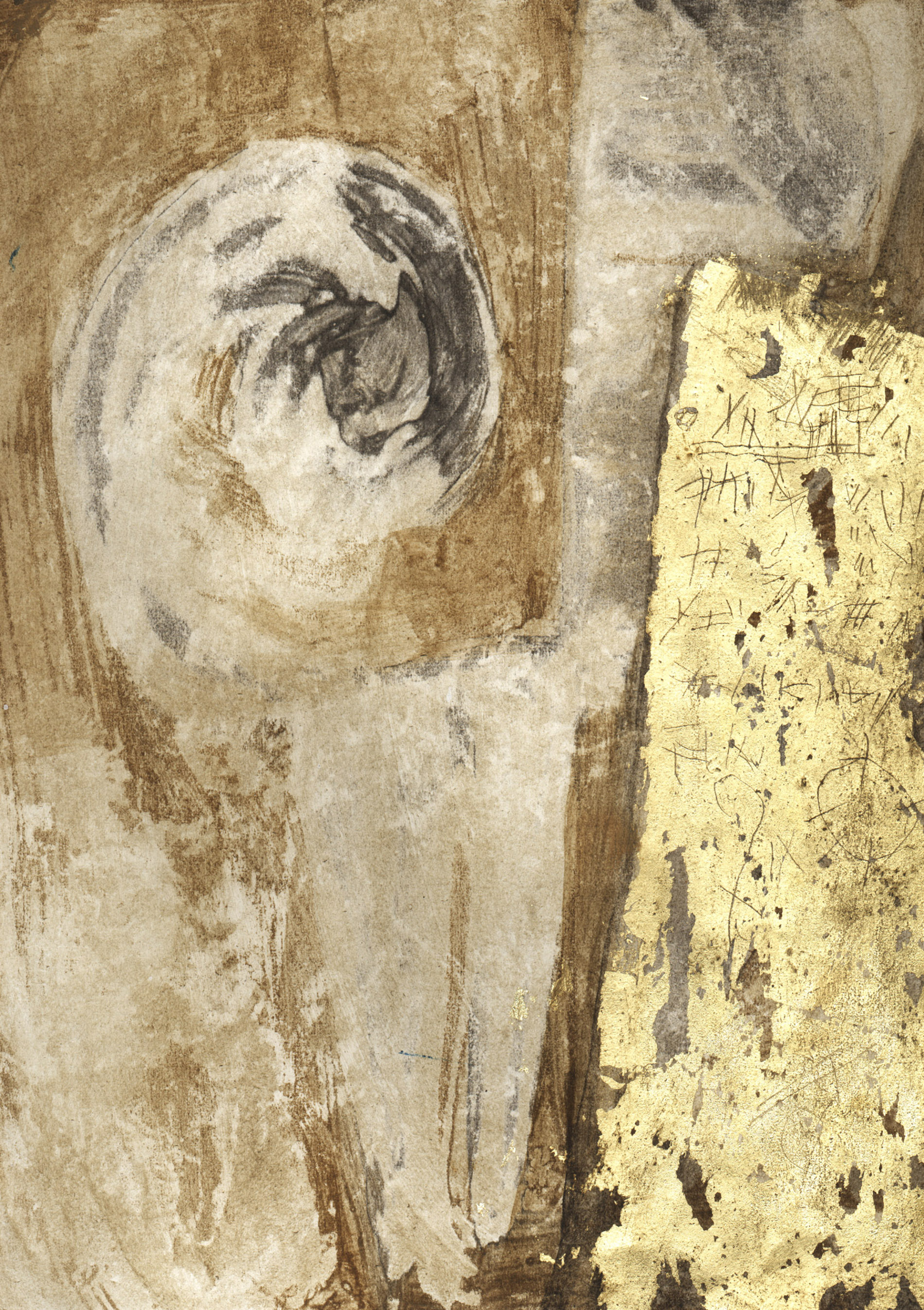 archetipo, astrazione, collage, culto della Madre Terra, musica, dipinto con pigmenti su carta di riso, dipinto con pigmenti su gesso, dipinto con pigmenti su tela, Graffiti, Pigmenti, , tecnica mista, texture, chiave di violino, quadri scenografici, pannelli scorrevoli dipinti, pannelli scorrevoli decorati, doratura, doratura con foglia d'oro, foglia d'oro, sedimentazioni, incisioni su tavola