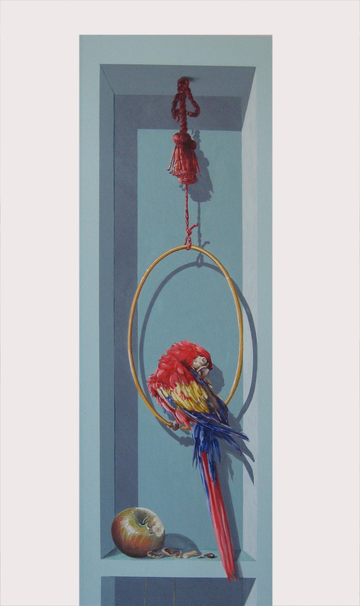 """""""Lo studiolo del cavaliere e della dama"""" Ante d'armadio a trompe l'oeil. Casa privata Roma. Cm 220x260"""