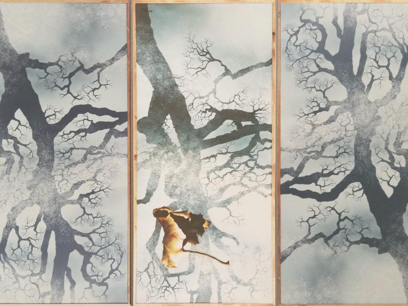 """""""Autunno"""" decorazione per Albergo. Svizzera Acrilico su legno."""