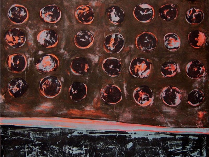 ,archetipo, astrazione, holes, collage, culto della Madre Terra, culto di Gaia, culto di Maia, dipinto con pigmenti su carta di riso, dipinto con pigmenti su gesso, dipinto con pigmenti su tela, Pigmenti, stecnica mista, texture, trittico, trittico holes