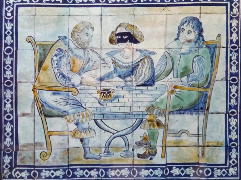 """""""Commedia dell'arte"""" Villaggio turistico Puglia Tecnica mista. Colorazione ad acrilico su tela. Mq 300"""