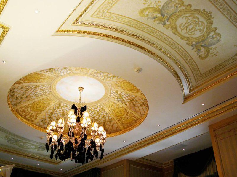 """trompe l'oeil """" La stanza del Toro ascendente Bilancia"""" Residenza privata. Donetsk Ucraina. Mq 60"""