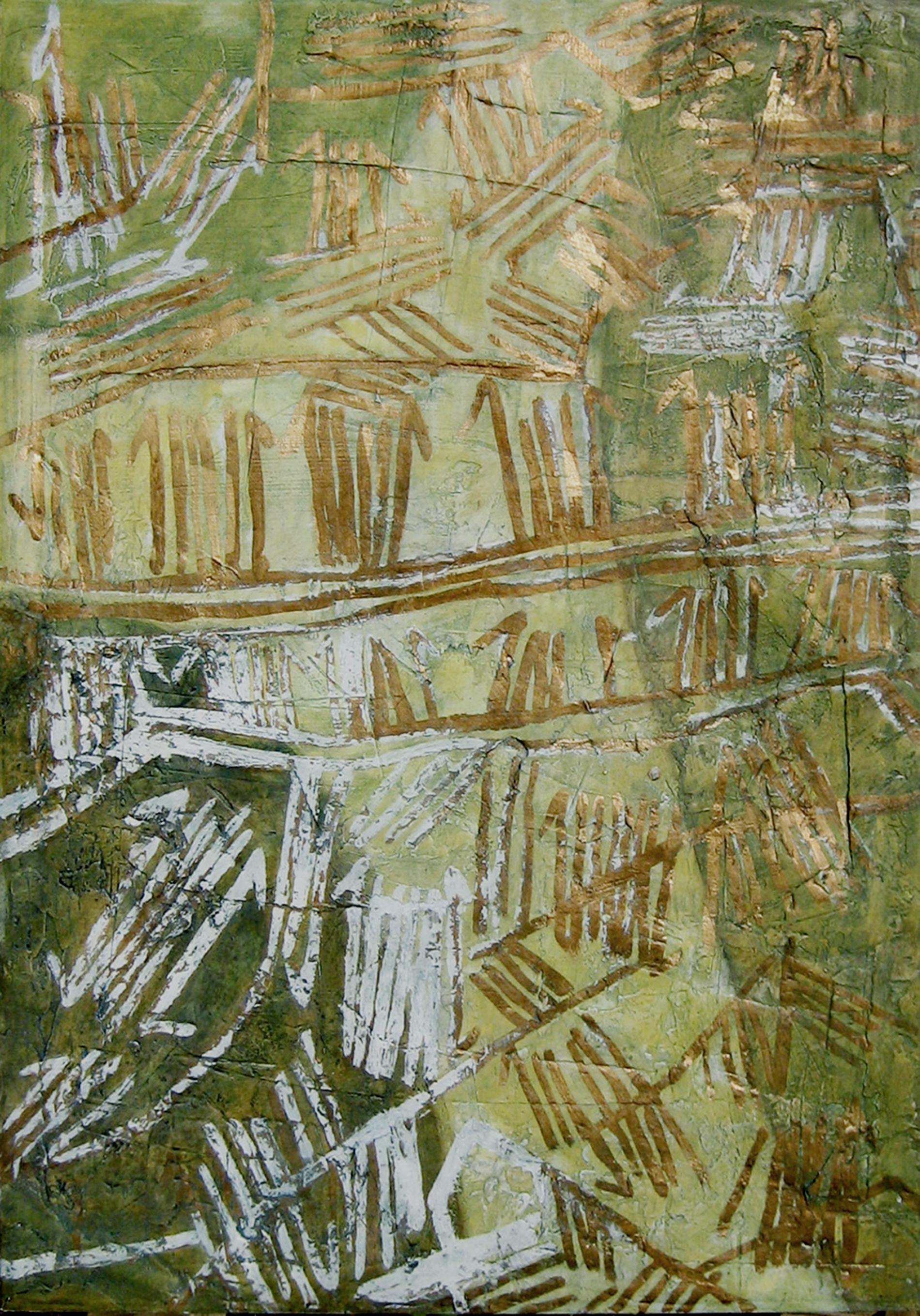 archetipo, astrazione, collage, culto della Madre Terra, culto di Gaia, culto di Maia, dipinto con pigmenti su carta di riso, dipinto con pigmenti su gesso, dipinto con pigmenti su tela, Pigmenti, stecnica mista, texture, dittico, doratura con foglia d'oro, grafik