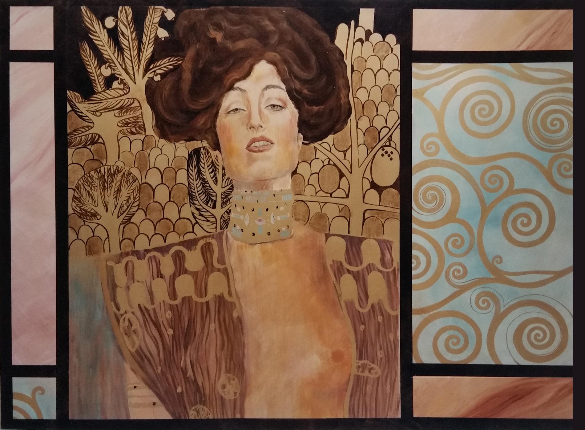 Klimt Ristorante Roma Tecnica mista. Colorazione ad acrilico su tela. Mq 50