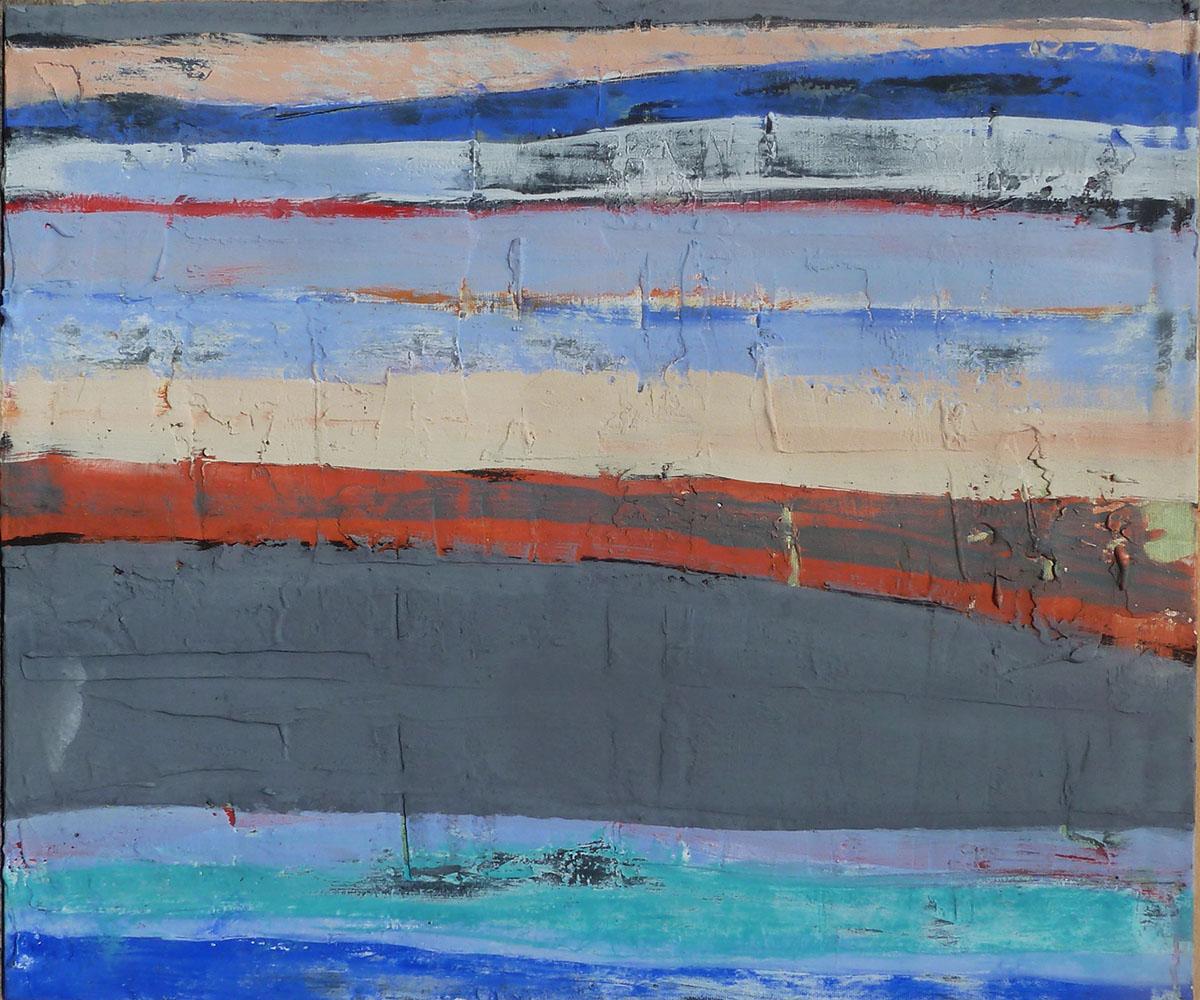 """""""marine"""" Collezione privata Tecnica mista. Pigmenti su carta di riso incollata su tela. Cm 80x60"""