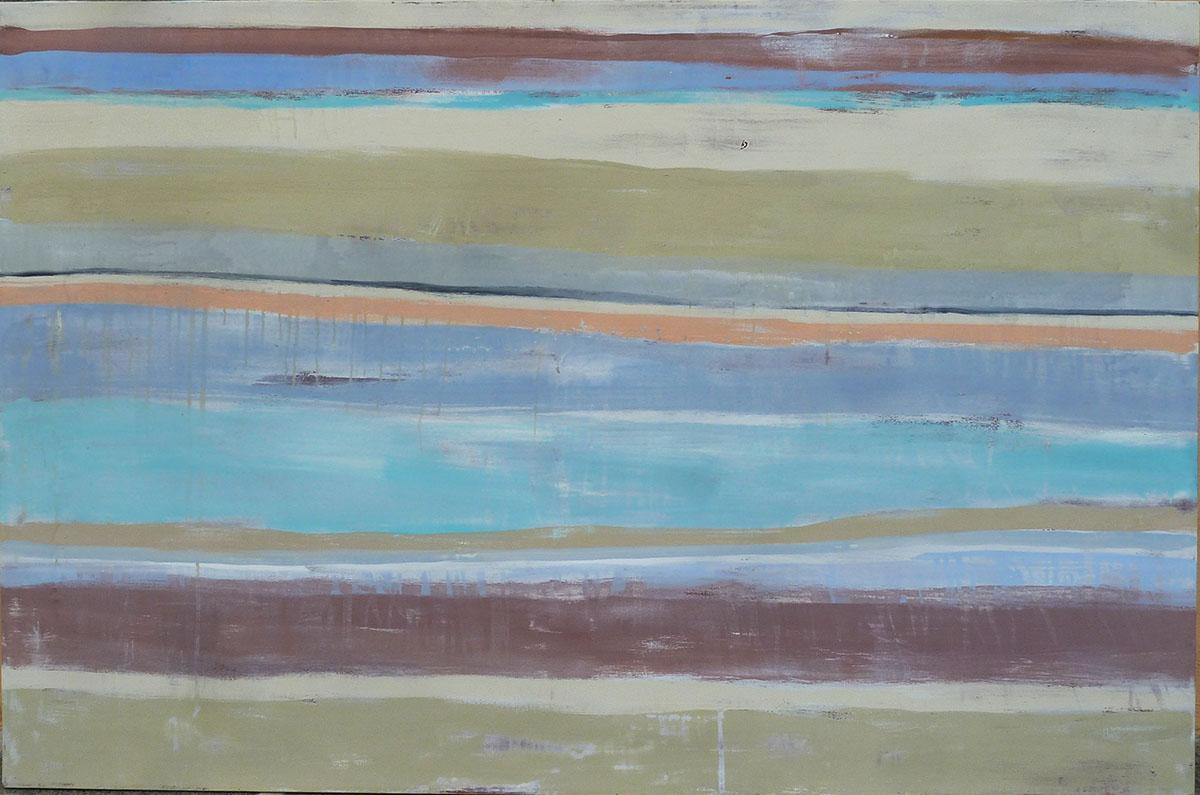"""""""marina"""" Collezione privata Tecnica mista. Pigmenti su carta di riso incollata su tela. Cm 100x80"""
