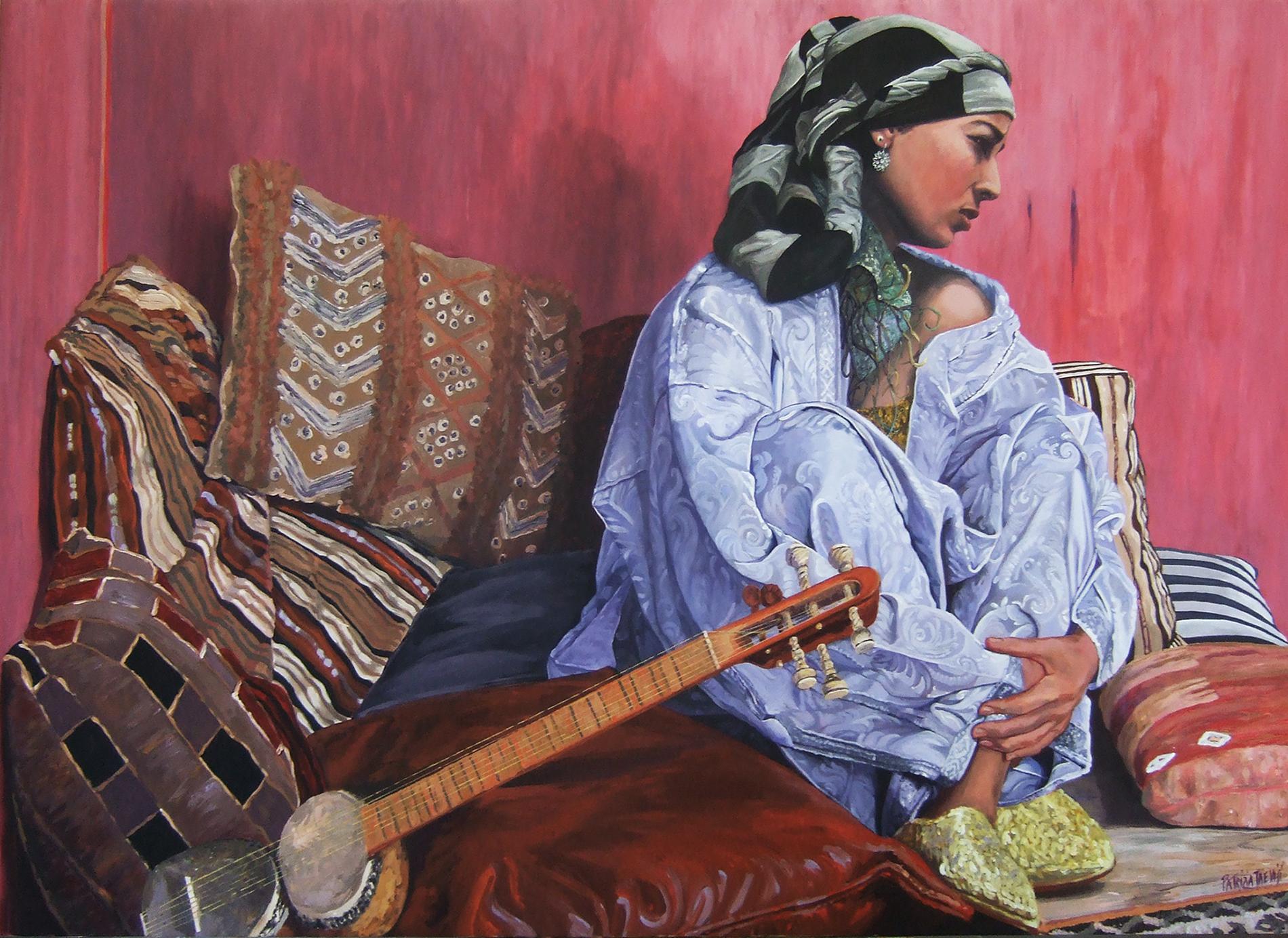 Odalisca con mandolino