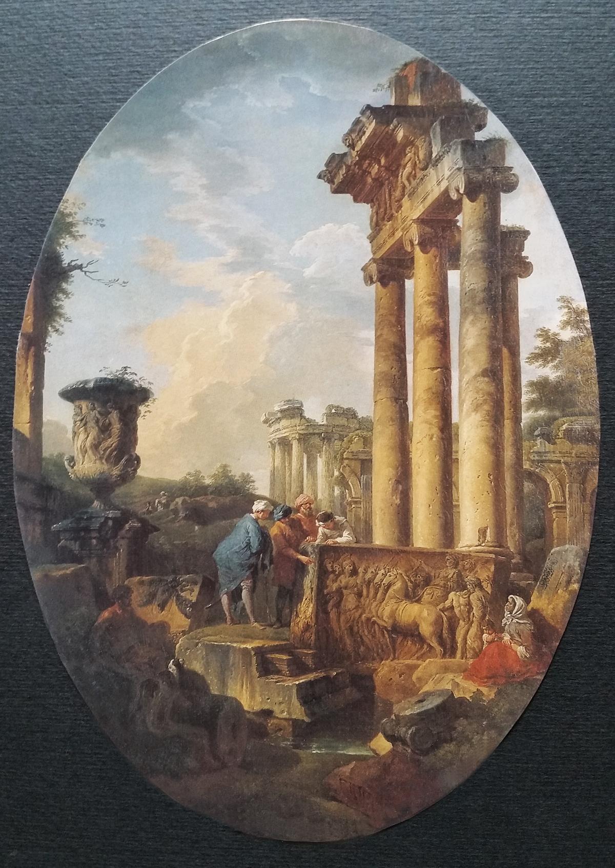 """Ovale """"Antiche rovine"""" di G.P.Panini. Collezione privata"""