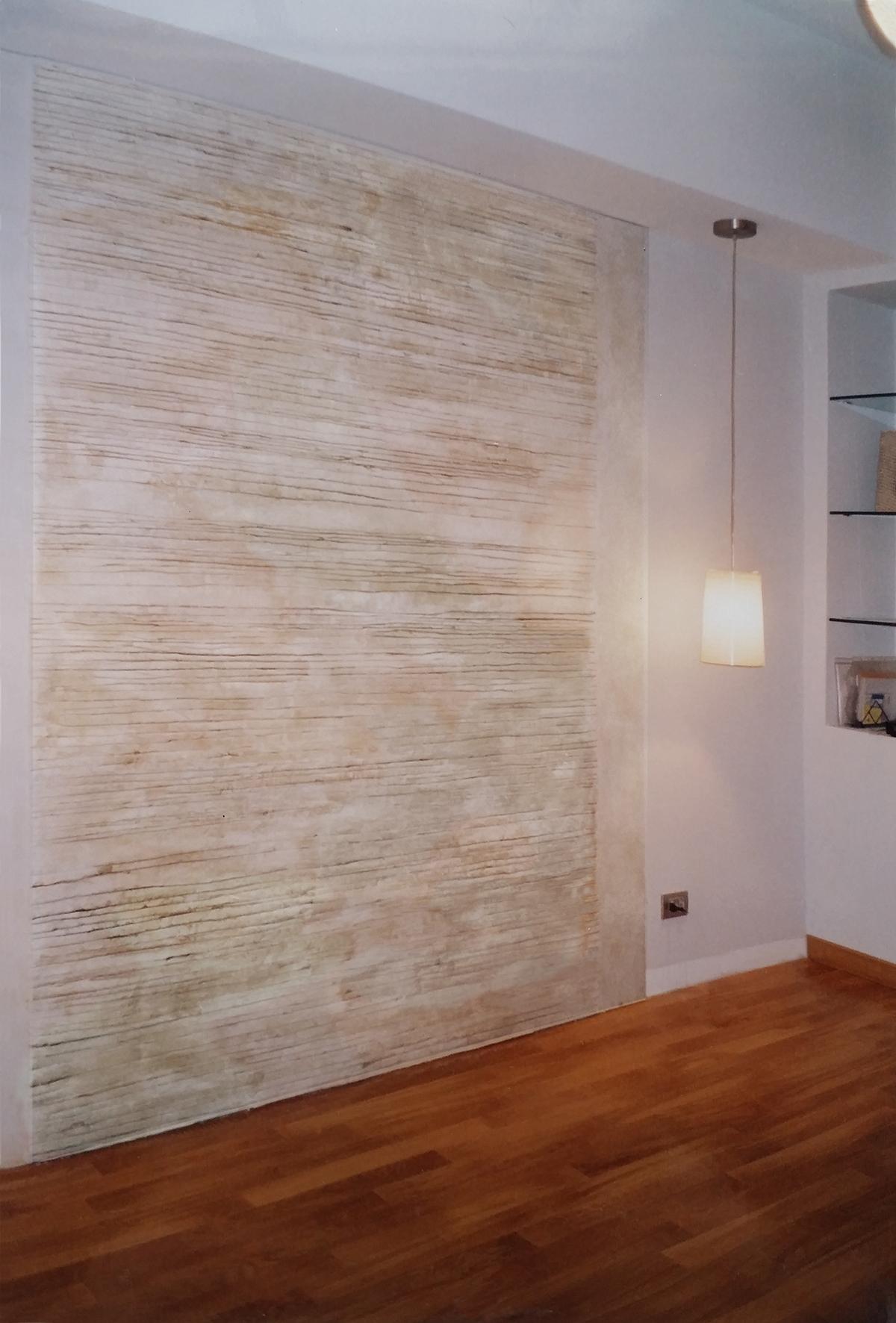 """"""" La parete dell'architetto"""" Residenza privata Roma Gesso modellato su multistrato. Colorazione con pigmenti Cm 200x 280"""