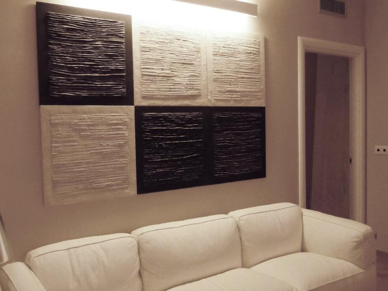 Piastre Bianche e Nere Collezione privata Roma. Cm 60x60 cad
