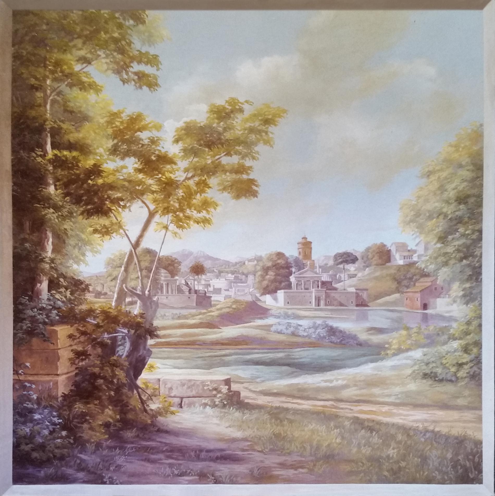 """N. Poussin """"Paesaggio"""" Collezione privata. Cm 160x180"""