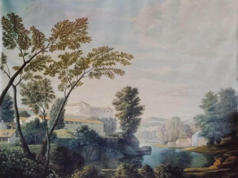 """N. Poussin """"Paesaggio"""" copia, Collezione privata. Cm 160x160"""