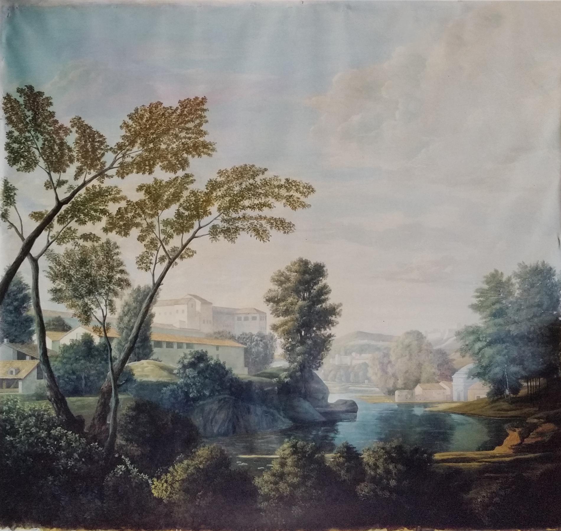 """N. Poussin """"Paesaggio"""" Collezione privata. Cm 160x160"""