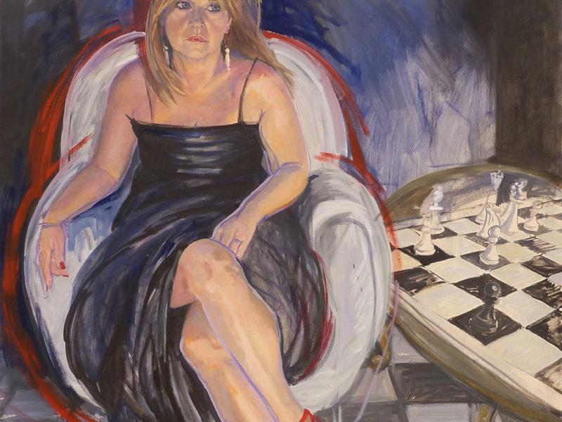 """ritratto """"donna con scacchi"""""""