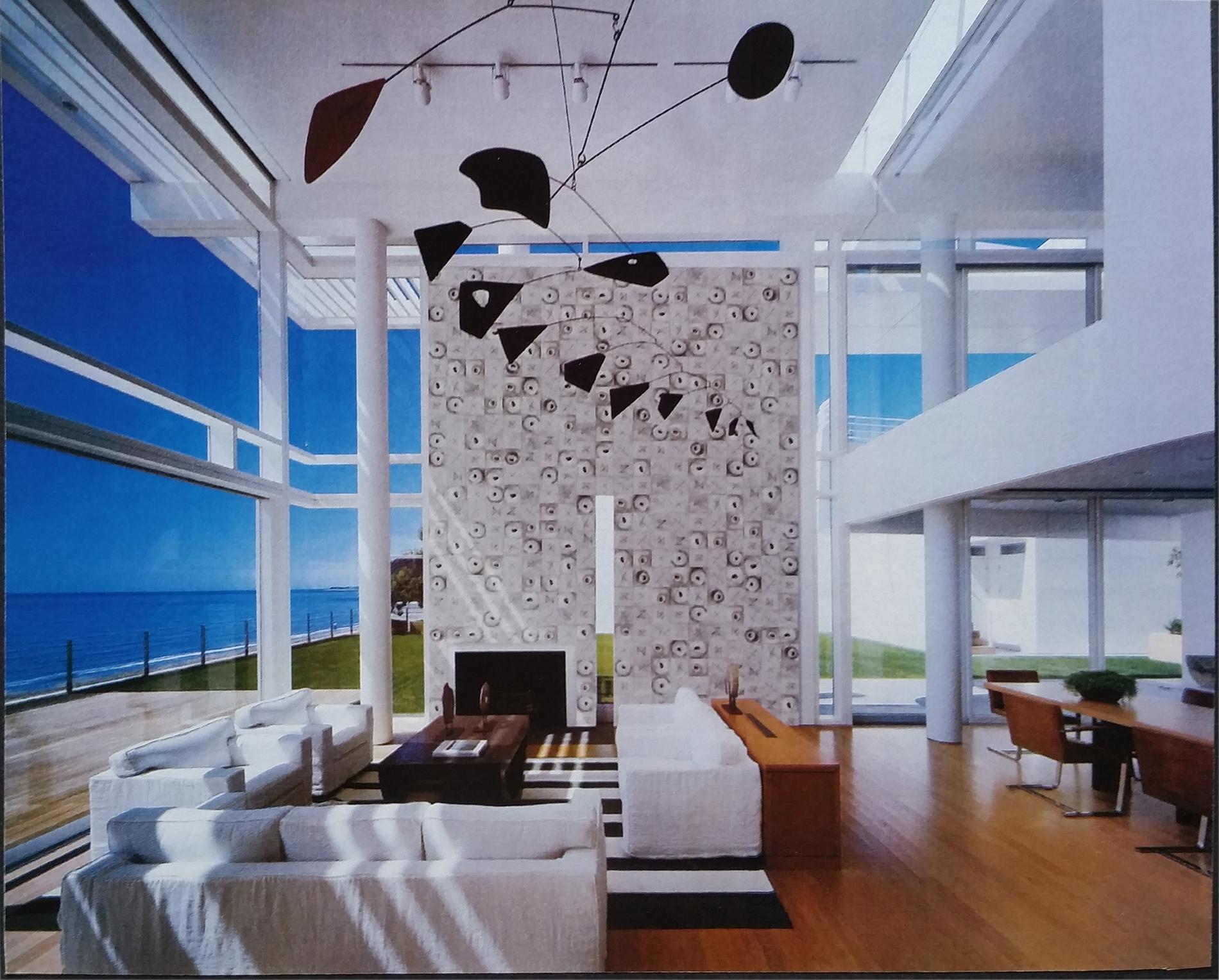 Moduli Rune Residenza privata USA 2008 Gesso modellato su multistrato. Colorazione con pigmenti Mq 20