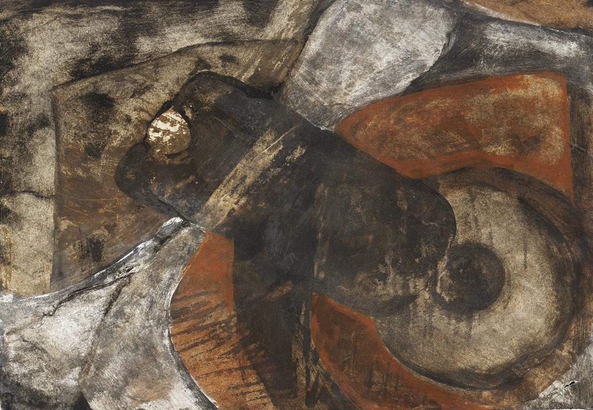 Terra collezione privata Tecnica mista.Terre su carta. Cm 180x120