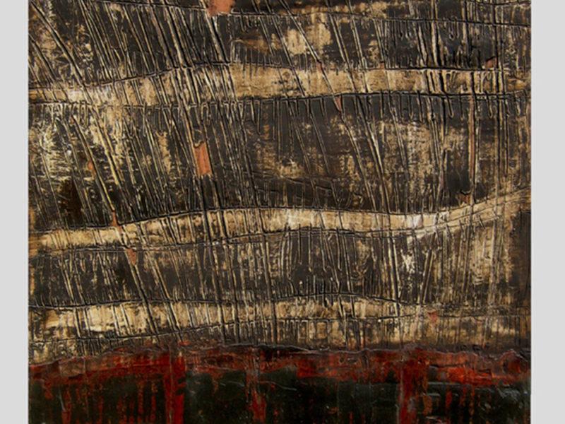 Trame Collezione privata Tecnica mista. Gesso graffito su tela. Colorazione con pigmenti e colore ad olio. Cm 80 x100
