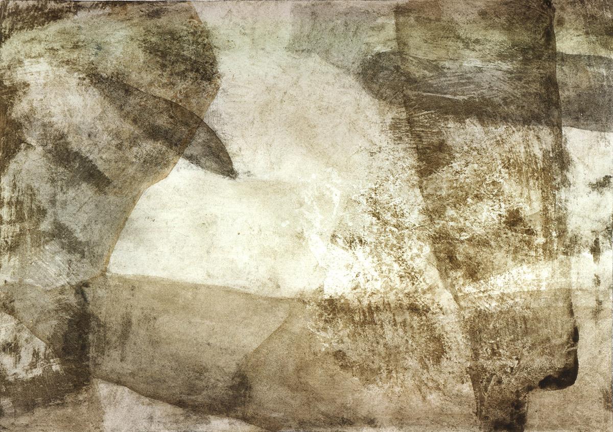 Uccelli collezione privata Tecnica mista.Terre su carta. Cm 180x120