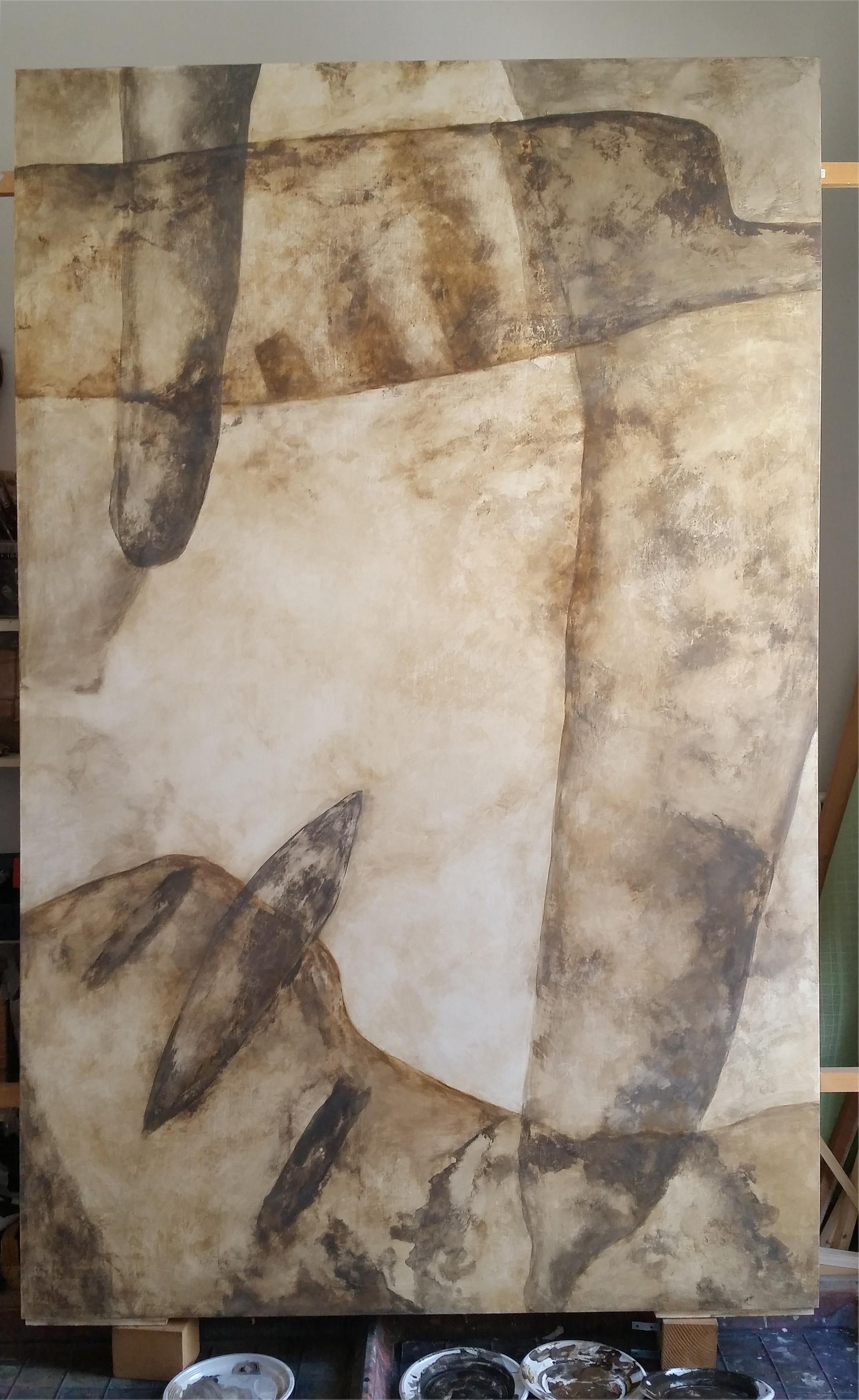 Quadro Bifacciale Gray and Brown 2018 Colleione privata Tecnica mista. Colorazione con pigmenti. Cm 200x 240