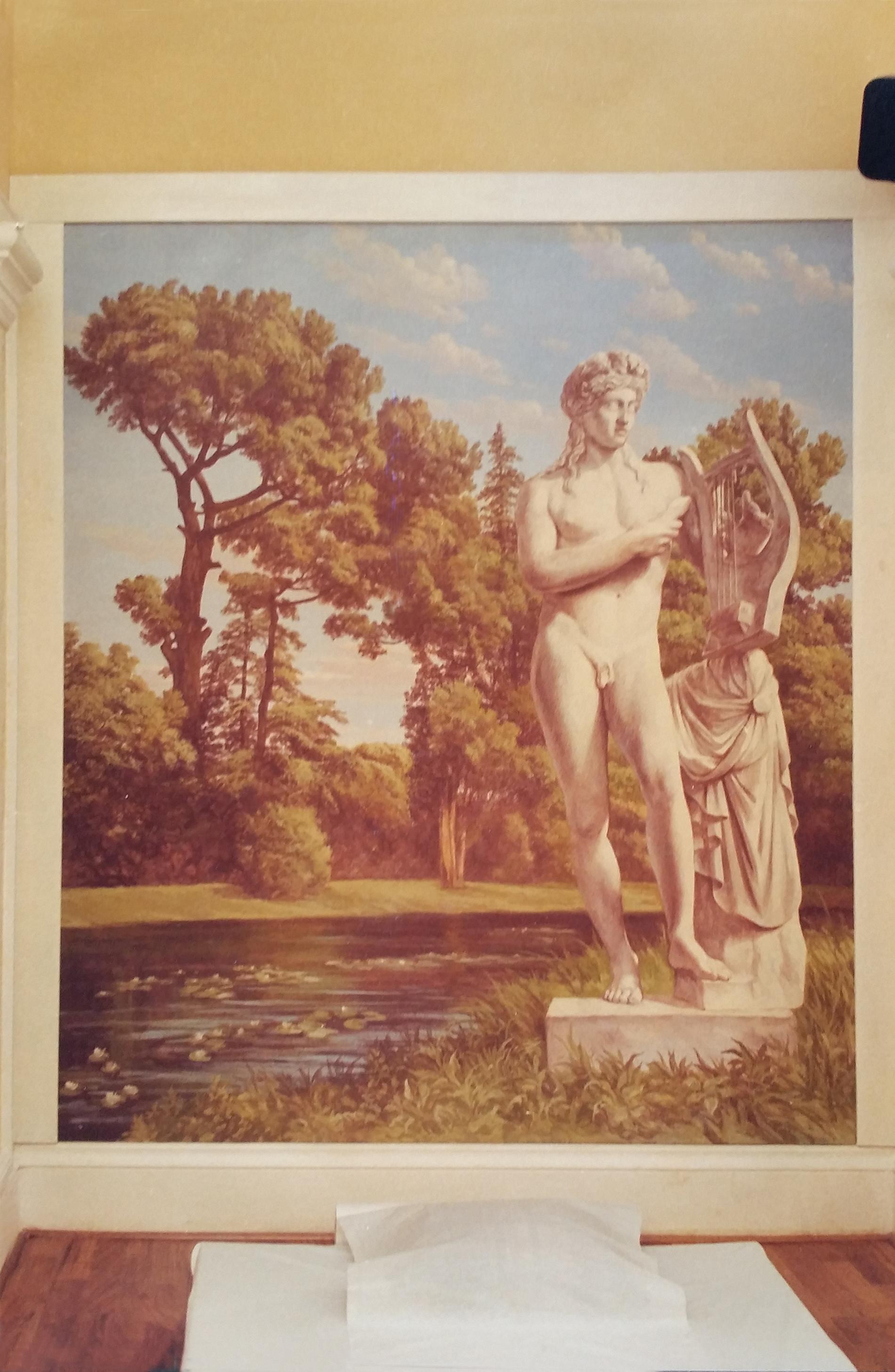 """Veduta """"Olimpo"""" Fitness Roma Tecnica mista. Colorazione ad acrilico su tela. Cm 200x 280"""